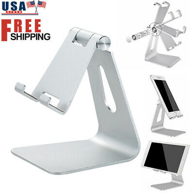 $8.49 • Buy Aluminum Cell Phone Stand Desk Table Holder Cradle Dock For IPhone Tablet Ipad