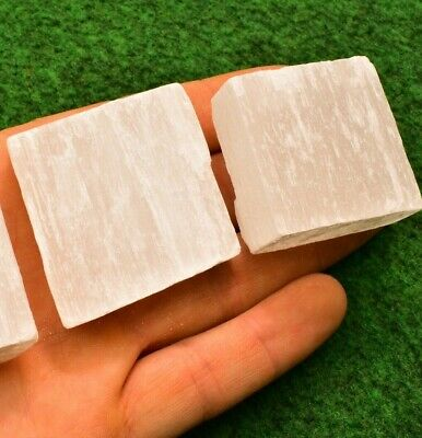 1 Wide Selenite 5cm Charging Plate Raw Stick✔ Gemstone Crystal Mineral UK BUY✔ • 2.95£