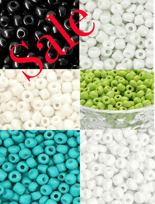 £2.20 • Buy 40g Glass Seed Beads Size 6.0  Choice Of Colours Jewellery Making