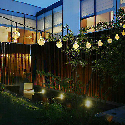 $13.50 • Buy Solar Powered 30 LED String Light Garden Path Yard Decor Lamp Outdoor Waterproof