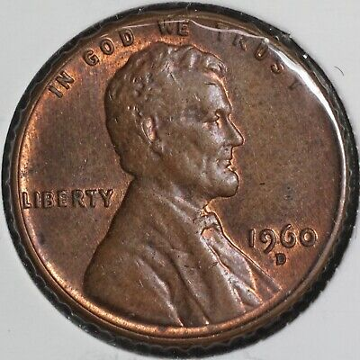 $0.99 • Buy 1960 D Lincoln Memorial 1C One Cent Coin - Small Date - 1