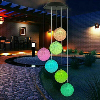 Hanging Colour Changing Solar Powered LED Ball Lights Garden Outdoor • 9.99£