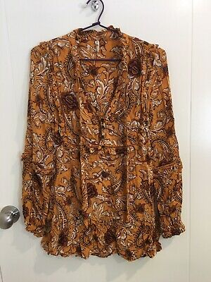 AU80 • Buy Spell Etienne Mini Dress Tunic Blouse Xs Sienna