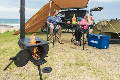 AU89 • Buy Kings Portable Long Chimney Camp Oven Stove Camping Outdoor Cooking Picnic 4WD