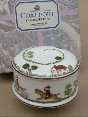 Coalport Hunting Scene Trinket Box Number 2 Newand Boxed • 31.99£