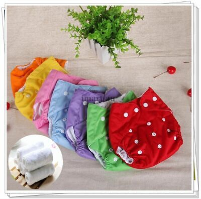 AU15.99 • Buy Reusable Modern Baby Cloth Nappies Diapers Adjustable Inserts Bulk Nappy