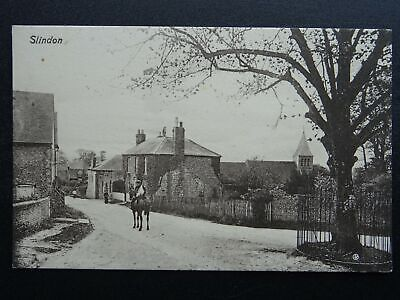 Sussex SLINDON Church Hill & Top Road - Old Postcard By R. Briant Burgess • 17.50£