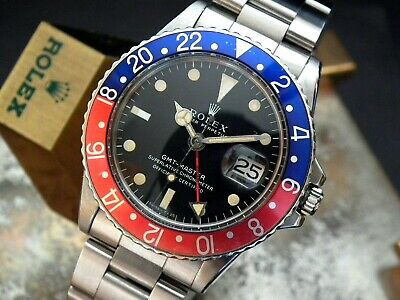 $ CDN26300.16 • Buy Collector Condition 1970 Rolex Oyster GMT 1675 Pepsi Long E Gents Vintage Watch