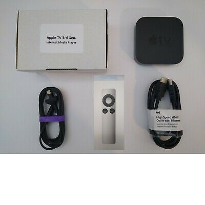 AU125 • Buy Apple TV (3rd Generation) HD Media Streamer (NEW REMOTE & HDMI CABLE) - A1469