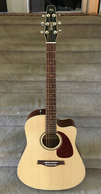 $549 • Buy Seagull Coastline S6 Slim QI Dreadnought Electric-Acoustic Guitar W/Case