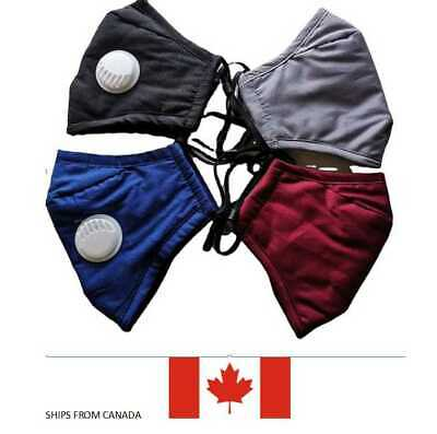 $ CDN6.95 • Buy Face Mask With PM 2.5 Filters & Reusable Shipping From CANADA