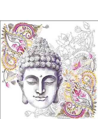 £2.50 • Buy 5 Paper Party Napkins Buddha Stone Pack Of 5 3 Ply Tissue Serviettes