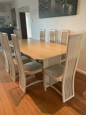 AU1500 • Buy 8 Seater Solid Travertine Stone Dining Table