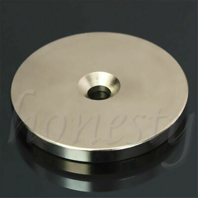 AU8.59 • Buy N52 50mm X 5mm Rare Earth Super Strong Magnets Round Discs 6mm Hole Neodymium