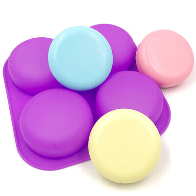 4 Round Soap Silicone Mould Pebble Stone Sugar Craft Chocolate Fondant Mold UK • 5.99£