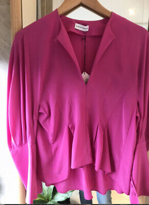 AU100 • Buy Brand New Womens Scanlan & Theodore Hot Pink Silk  Blouse Top SIze 6