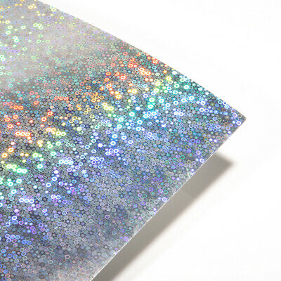 10 Sheets - Silver Bubbles Holographic A4 Crafting Card • 4.99£