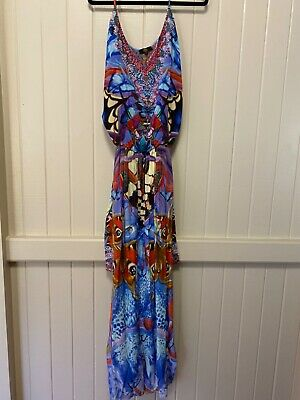 AU244.30 • Buy Czarina Embellished Silk Jumpsuit Small  BNWT RRP$449 Butterfly