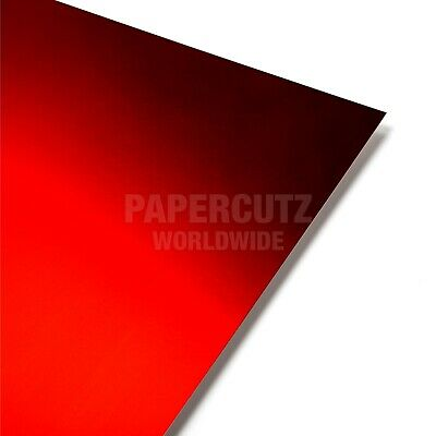 10 Sheets - Red Mirror A4 Crafting Card • 4.99£
