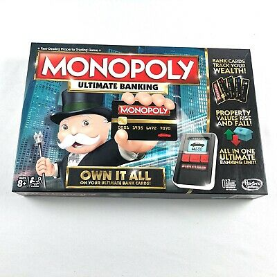 $18 • Buy Hasbro Monopoly Ultimate Banking Board Game Complete Used ONCE