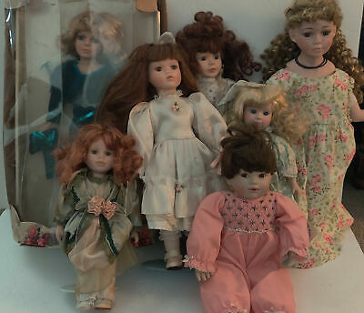 $ CDN54.12 • Buy Lot Of 7 Assorted Porcelain Dolls