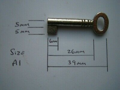 £7.95 • Buy A1 Small Oval Key Blank For Antique Cabinet, Boxes, Furniture.Iron,Nickel Plated