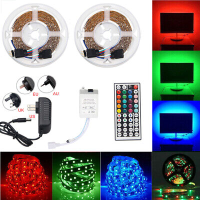 $20.99 • Buy 32FT Flexible Strip Light 3528 RGB LED SMD Remote Fairy Lights Room TV Party Bar
