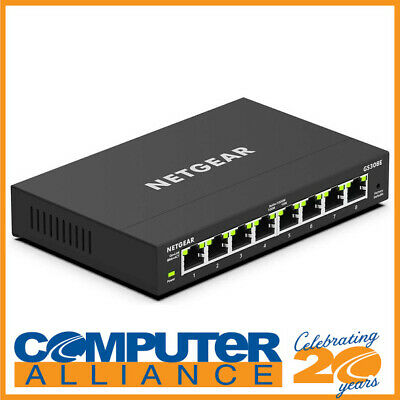 AU69 • Buy 8 Port Netgear GS308E-100AUS Gigabit Ethernet Smart Managed Network Switch