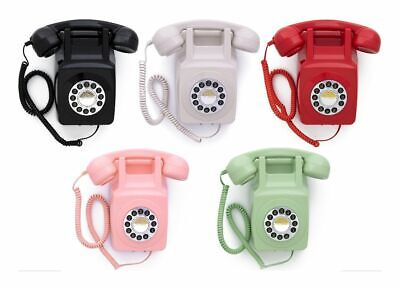 £40.99 • Buy GPO 746 Wall Phone With Push Button Retro Telephone Dial  746WP  Various Colours