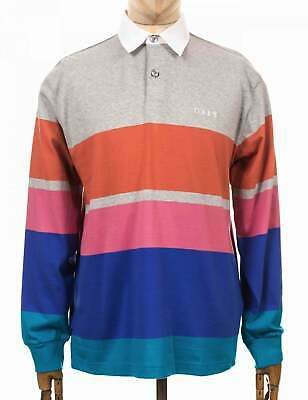 Obey Clothing Automation Rugby Polo Shirt - Heather Ash Multi • 75£