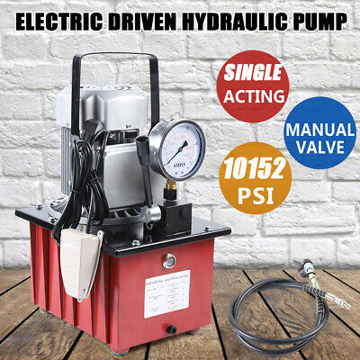 $290.01 • Buy 10000PSI Electric Driven Hydraulic Pump Single Acting 63Mpa+1.8M Oil Hose AC110V