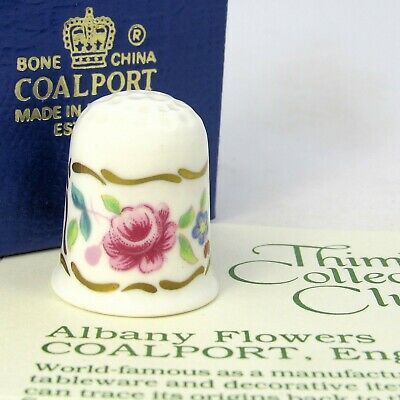 £6.59 • Buy Thimble Collectors Club, Albany Flowers By Coalport, England