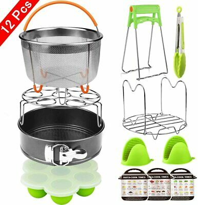 $44.79 • Buy 12 Pieces Instant Pot Accessories Set Fits 6 To 8 Quart Cooker W/ Steamer Basket
