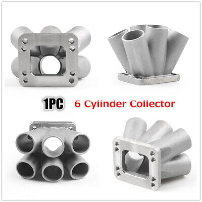 $143.99 • Buy Cast Stainless Steel 304 6-1 Turbo Header Manifold Merge Collecttor T3 T4 Turbo