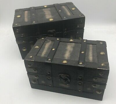 Clearance Rustic Wooden Box Colonial Style Trunk Treasure Chest Vintage Storage  • 17.99£