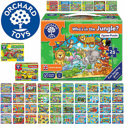 £10.99 • Buy Orchard Toys First Children Jigsaws - Educational Puzzle For Ages 3-9 MADE IN UK