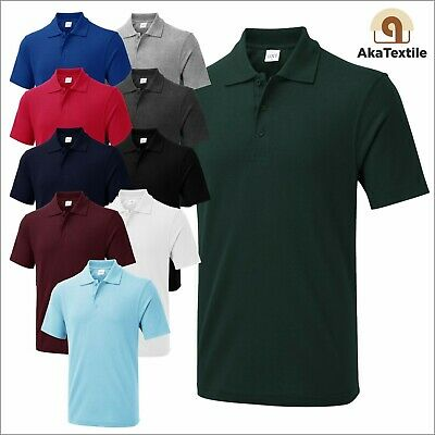 £5.99 • Buy UNEEK UX1 Mens Polo Shirt Casual Poly Cotton Plain Work Wear Pullover Top XS-6XL