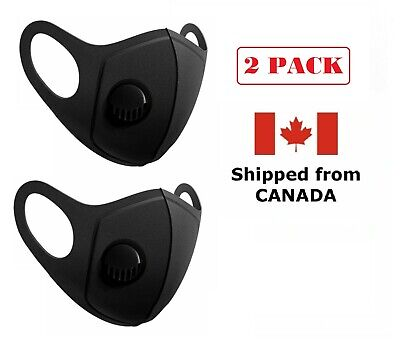 $ CDN16.97 • Buy 2 Pack - Protective Reusable Face Mask With Breathing Valve Ships From Canada