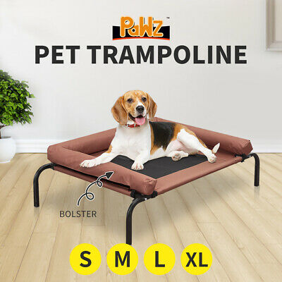AU36.99 • Buy PaWz Pet Bed Heavy Duty Bolster Trampoline Dog Puppy Hammock Mesh S-XL Coffee