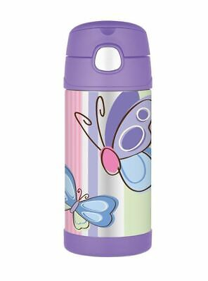 AU24.50 • Buy THERMOS Drink Bottle Purple Butterflies AUTHENTIC New Kids Lunch Box
