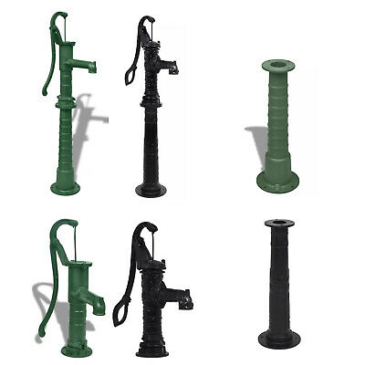 £171.99 • Buy Garden Hand Water Pump With Stand Cast Iron Green/Black Farm Irrigation Ornament