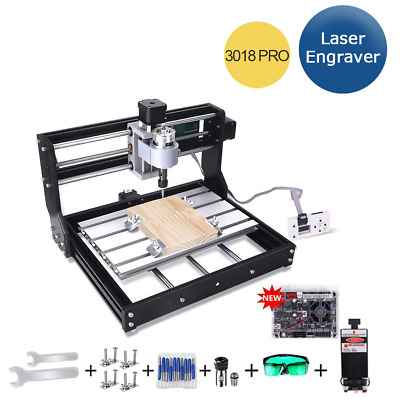 CNC 3018 PRO Laser Engraver Wood Machine 3-Axis Milling GRBL DIY Engraving For • 233.27£