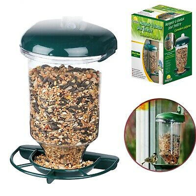 £8.95 • Buy Wild Bird Feeder Garden Glass Window Hanging Suction Cup Automatic Seeds Feed