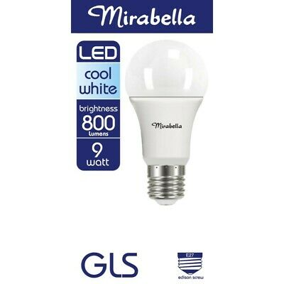 AU8 • Buy Mirabella LED Globe GLS Edison Screw 9 Watt Cool White 1 Each