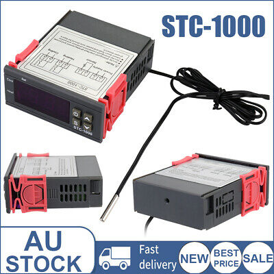 AU16.39 • Buy Digital Temperature Thermostat STC-1000 Controller 110-220V AC Heating Cooling