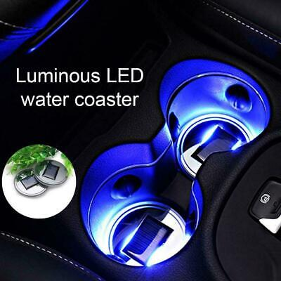 $10.30 • Buy 2X Solar Cup Pad Car Accessories LED Light Cover Interior Lights Decoration V6E2