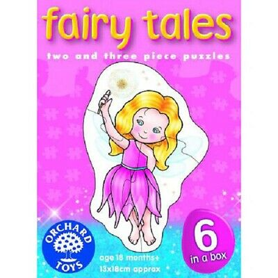 Orchard Toys Fairy Tales 6 In A Box 2 And 3 Piece Jigsaw Puzzles New Age 18 Mont • 6.75£