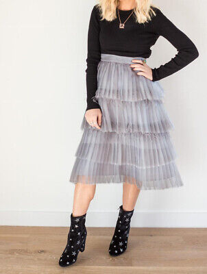 £52.15 • Buy Malka Majesty Organza Pleated Skirt With Ostrich Feathers