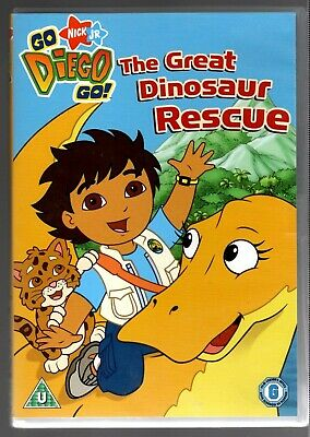Go Diego Go - The Great Dinosaur Rescue (DVD, 2009) Very Good Condition • 1£