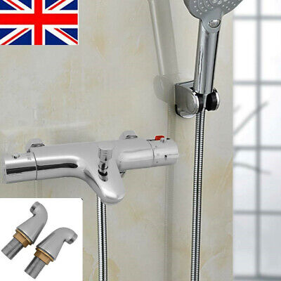 Bathroom Thermostatic Bath Shower Mixer Taps Deck Mounted Chrome Valve Bar Tap • 40.99£